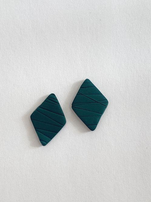 Deep Emerald // Diamond Stud