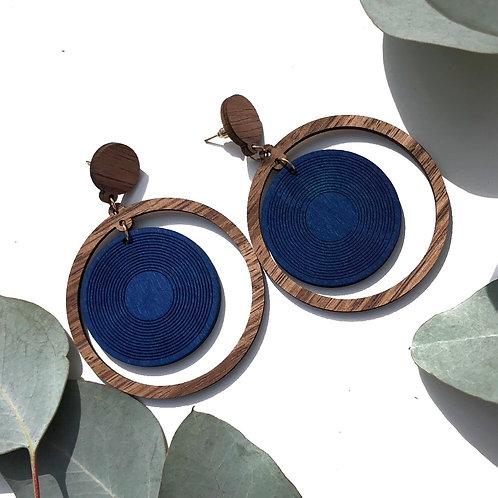Geometric Wooden Earrings (Round)