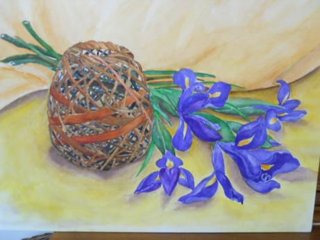 Basket & blooms 15.5X11.5