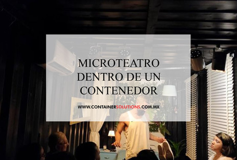 Microteatro dentro de un contenedor