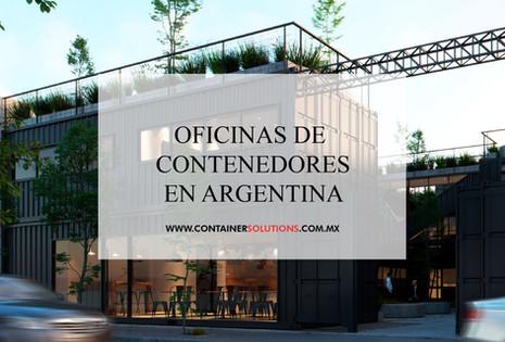 Oficinas con contenedores en Argentina