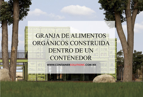 Granja de alimentos orgánicos construida dentro de un contenedor