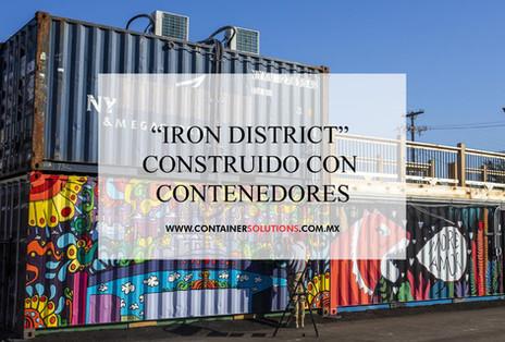 """""""Iron District construído con contenedores"""""""