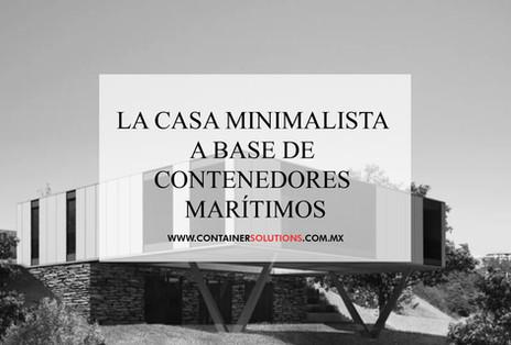 La casa minimalista a base de contenedores marítimos