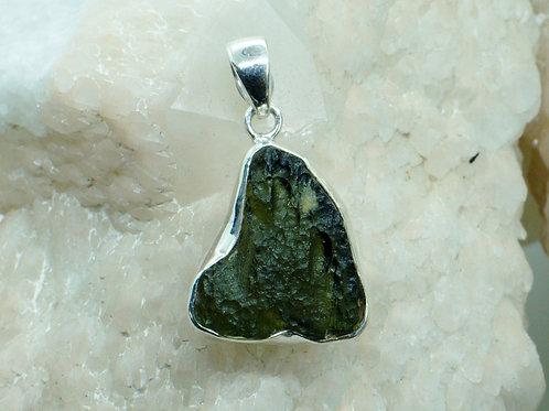 Stunning Rare Moldavite Sterling Silver Pendant