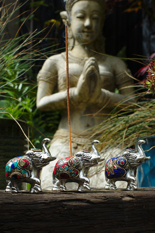 Large Nepali Elephant Incense Holder