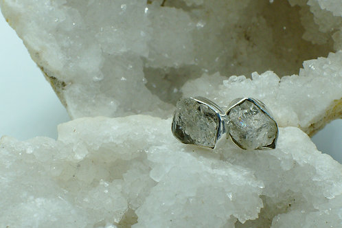 Herkimer Diamond Sterling Silver Stud Earrings HDD