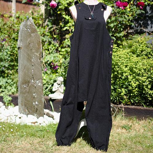 Harem Dungarees Black Size Large/XLarge