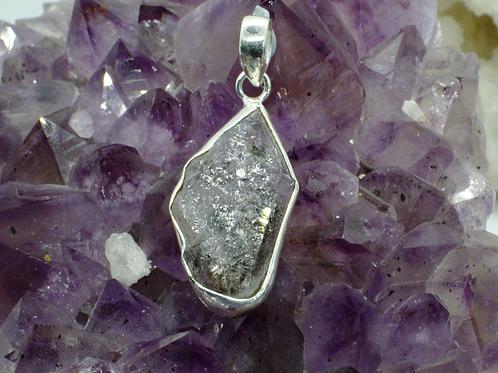 Large Herkimer DiamondSterling Silver Pendant HDB