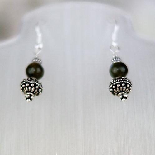 Labradorite Ornate Earrings
