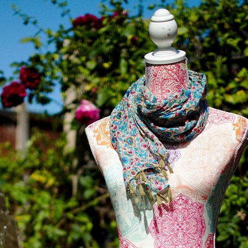 Multi Floral Cotton Scarf