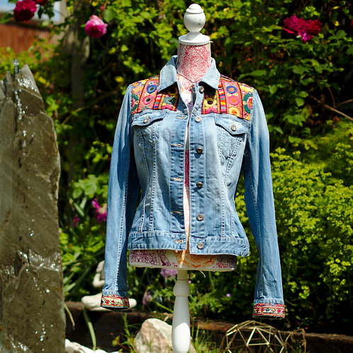 Antique Embroidery Denim Jacket 3 L