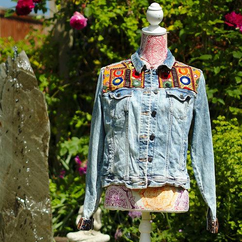 Antique Embroidery Denim Jacket 4