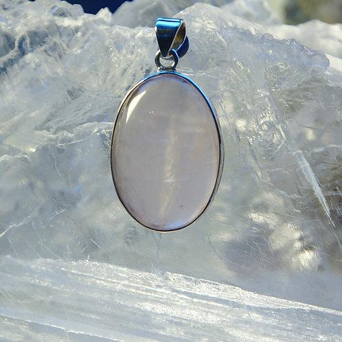 Pretty Rose Quartz Sterling Silver Pendant