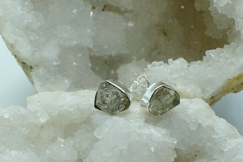 Herkimer Diamond Sterling Silver Stud Earrings HDE