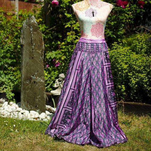 Recycled Sari Silk Umbrella Trousers Purple