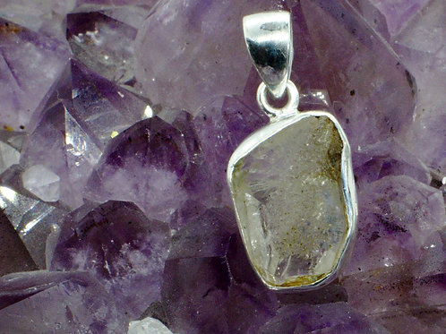 Herkimer Diamond Sterling Silver Pendant HDF