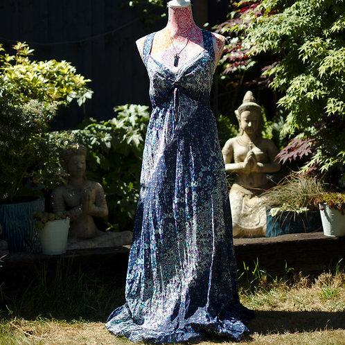 Ditsy Print Cotton Maxi Dress