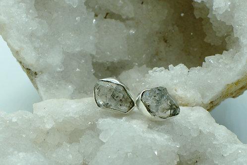 Herkimer Diamond Sterling Silver Stud Earrings HDA