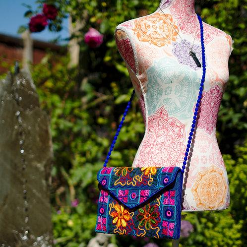 Large Embroidered Clutch/Shoulder Bag