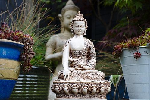 Large Ornate Buddha - Cream or Black