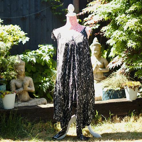 Bali Afgani Black Abstract Design Playsuit