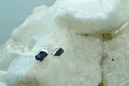 Raw Tanzanite Sterling Silver Stud Earrings TAC