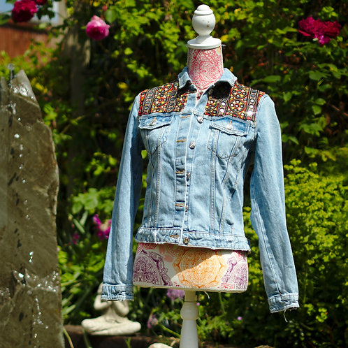 Antique Embroidery Denim Jacket 1