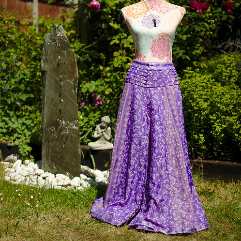 Recycled Sari Silk Umbrella Trousers Lilac