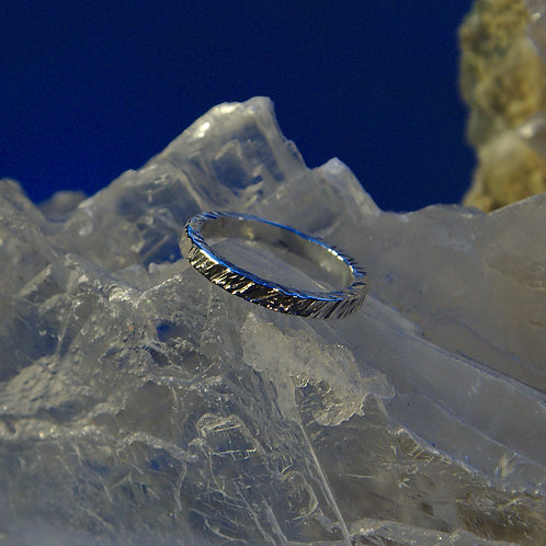 Heavily Textured Sterling Silver Band Ring