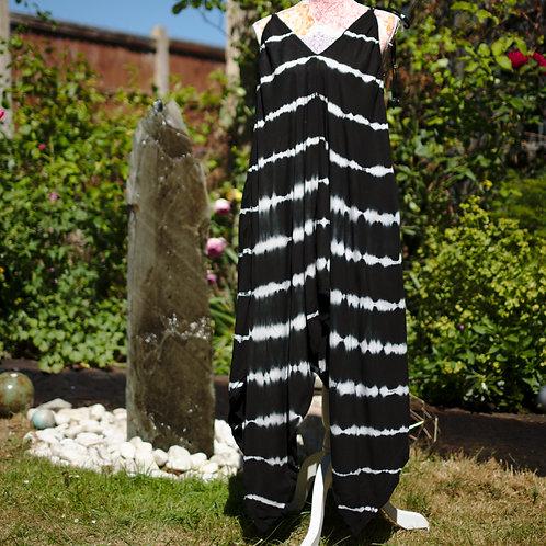 Bali Afgani Tie-Dye Playsuit Black