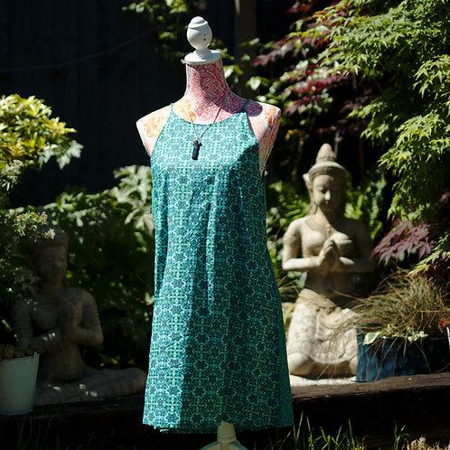 Strappy Sundress Green/Blue M//L