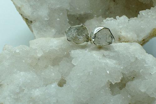 Herkimer Diamond Sterling Silver Stud Earrings HDF