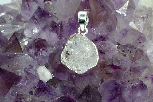 Herkimer Diamond Sterling Silver Pendant HDH