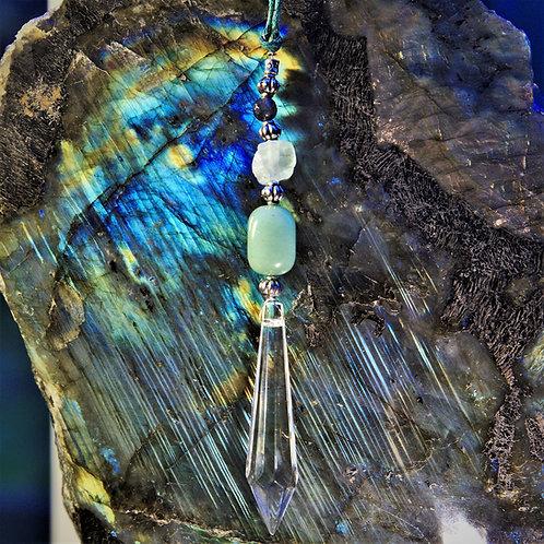 Aventurine, Rough Fluorite & Labradorite Suncatcher