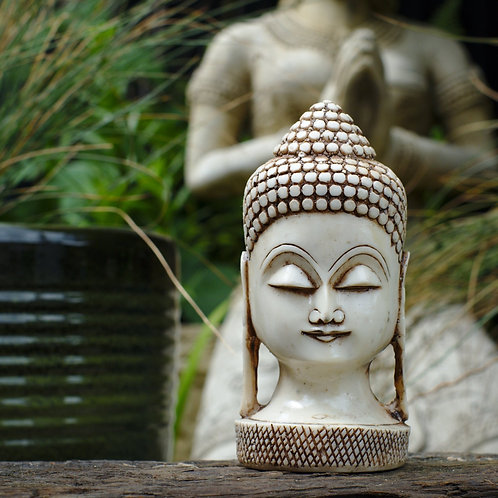 Small Buddha Head - Cream or Black