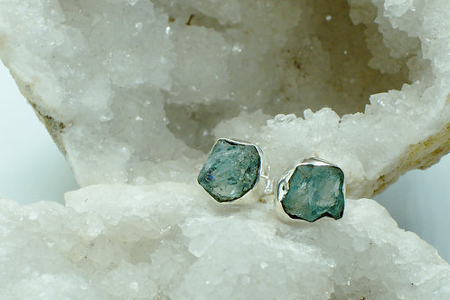 Raw Apatite Sterling Silver Stud Earrings APD
