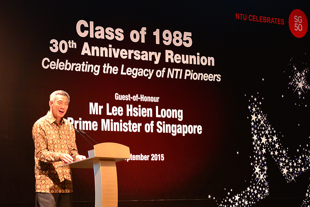 Class of 1985 30th Anniversary Reunion GOH PM of Singapore Mr Lee Hsien Loong