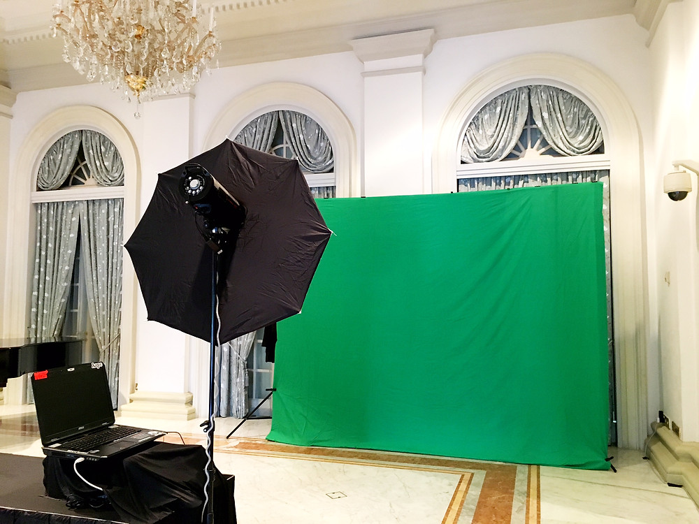 green screen photobooth in Singapore Istana