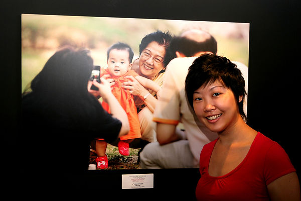 Lisa Lum 1st prize award-winning photo for NDP 2009 titled '' 3 Generation''