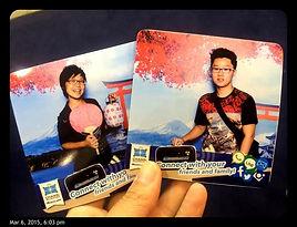 Instant photo coaster