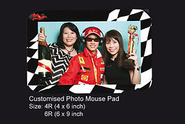 customised Instant photo mousepad