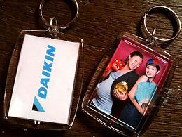 Instant double sided photo keychain
