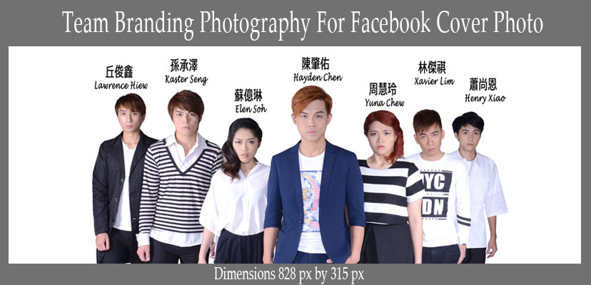 Facebook cover photo for Team branding photography