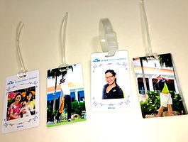 customised instant photo luggage tag