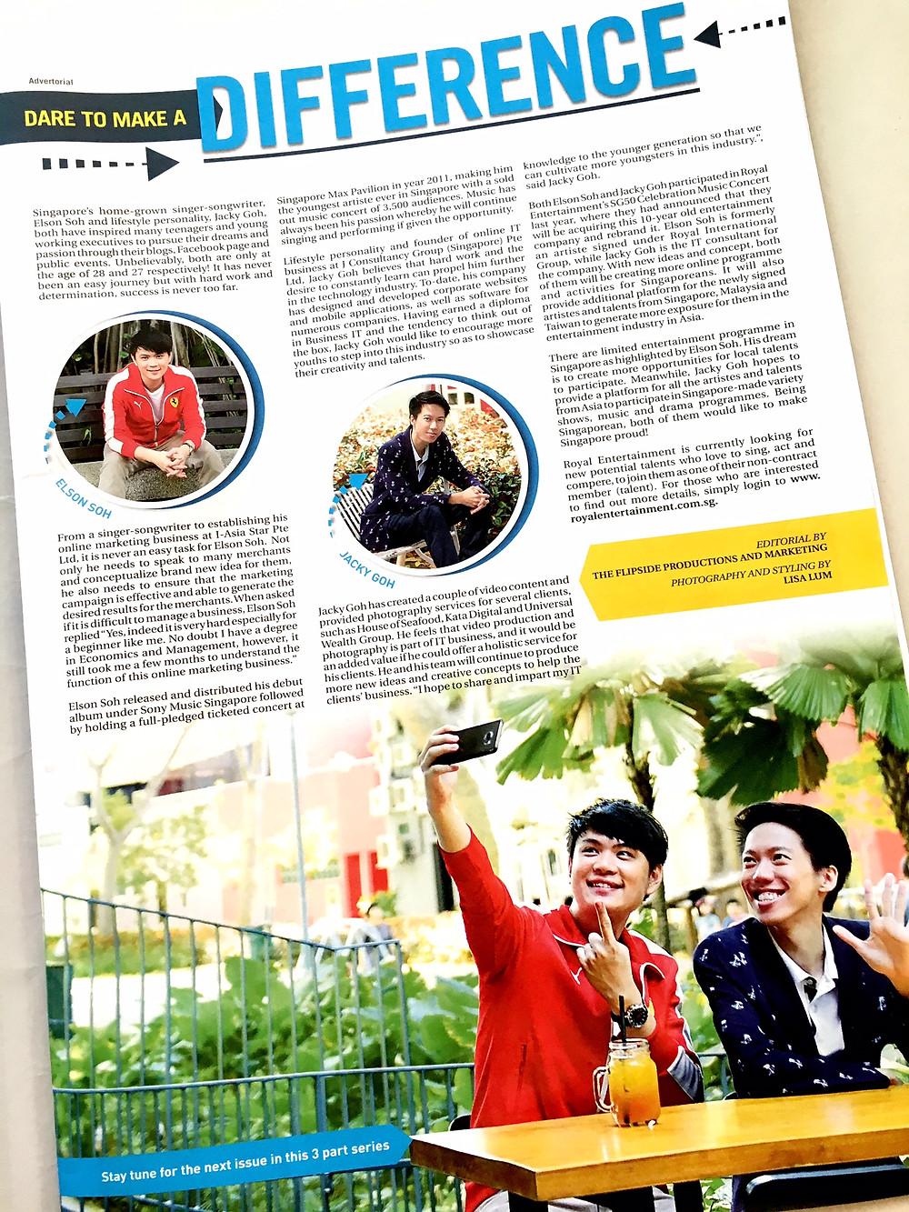 Editorial Branding Portriats for Golf Magazine