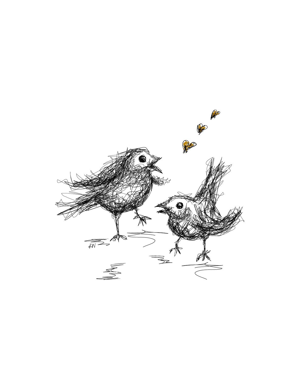 Linnut_piirros
