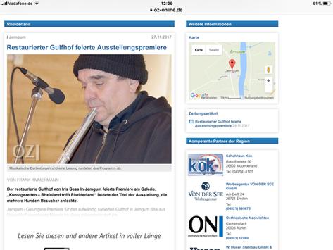 Restaurierter Gulfhof feierte Ausstellungspremiere
