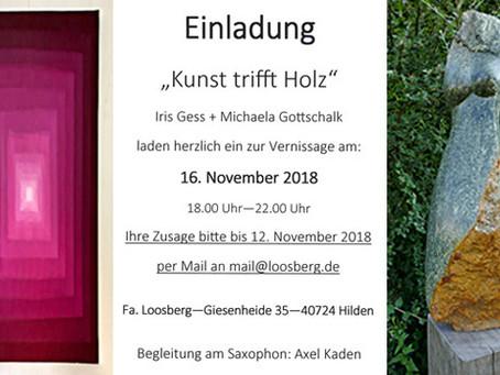 """Einladung """"Kunst trifft Holz"""""""