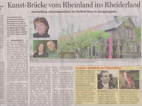 Kunst-Brücke vom Rheinland ins Rheiderland